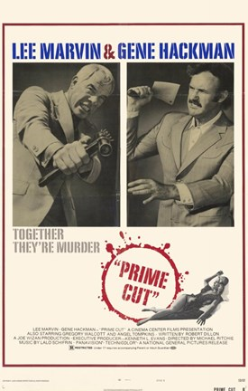 Framed Prime Cut: Lee Marvin And Gene Hackman Print