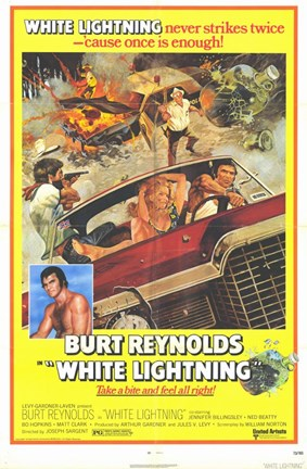 Framed White Lightning Print