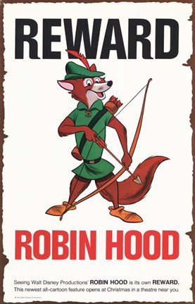 Framed Robin Hood Reward for Fox Print