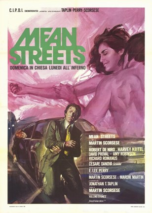 Framed Mean Streets Robert DeNiro Print