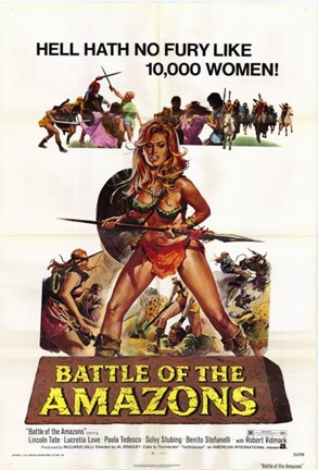 Framed Battle of the Amazons Print