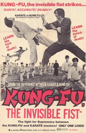 Framed Kung Fu: The Invisible Fist Print