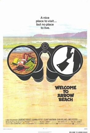 Framed Welcome to Arrow Beach Print