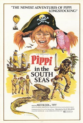 Framed Pippi in the South Seas Print