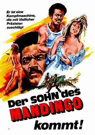 Framed Mandingo Movie German Print
