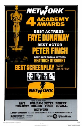 Framed Network 4 Academy Awards Print