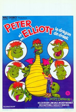 Framed Pete's Dragon French Print