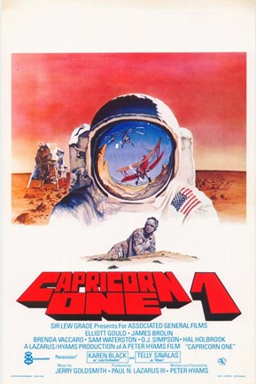 Framed Capricorn One Space Suit Print