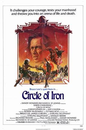 Framed Circle of Iron David Carradine Print