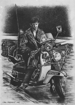 Framed Quadrophenia Phil Daniels Motorcycle Print