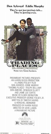 Framed Trading Places Tall Print