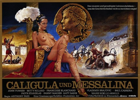 Framed Caligula & Messalina Print
