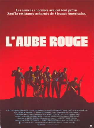Framed Red Dawn L'Aube Rouge French Print