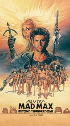 Framed Mad Max Beyond Thunderdome Vertical Print