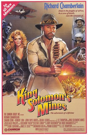 Framed King Solomon's Mines Richard Chamberlain Print