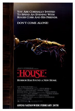 Framed House - Horror has found a new home Print