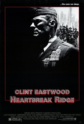 Framed Heartbreak Ridge Military Print