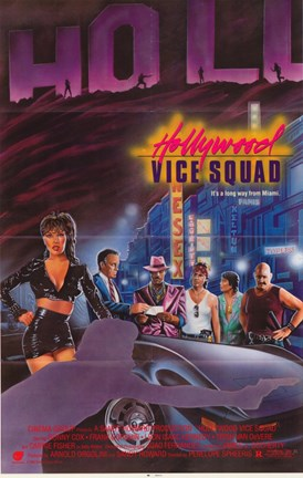 Framed Hollywood Vice Squad Print