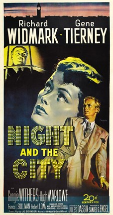 Framed Night and the City Gene Tierney Print