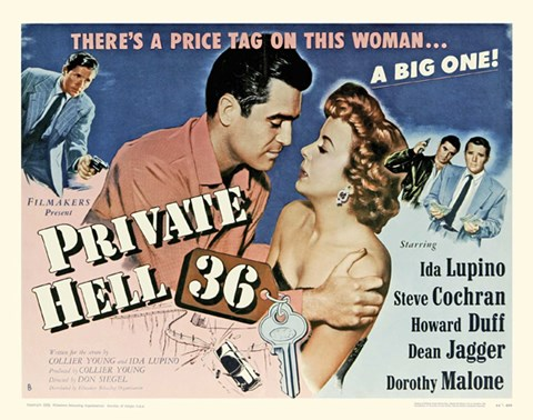 Framed Private Hell 36 - Starring Ida Lupino Print