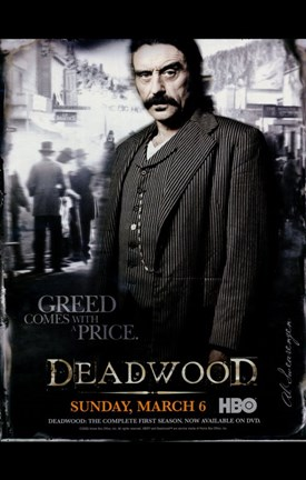 Framed Deadwood Ian McShane Up Close Print