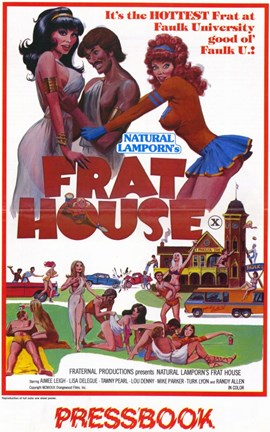 Framed National Lamporn's Frat House Print