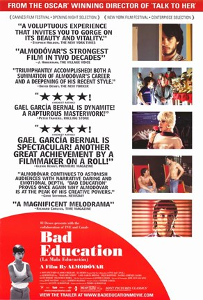 Framed Bad Education Movie Poster Spanish English Print