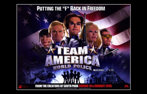 Framed Team America: World Police Movie Print