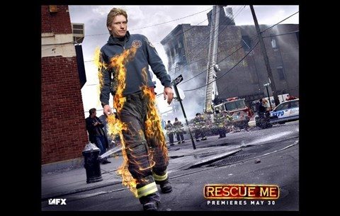 Framed Rescue Me (TV) On Fire Horizontal Print