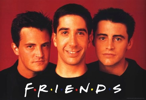 Framed Friends (TV) Joey Chandler & Ross Print