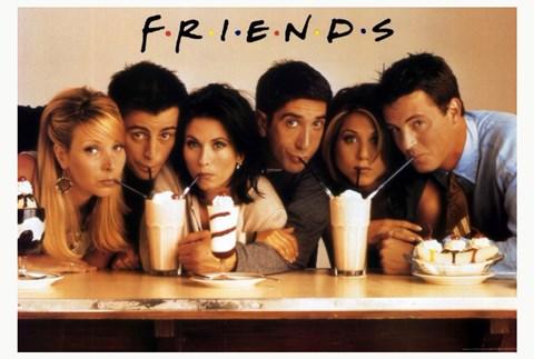 Friends Tv Cast Drinking Milkshakes Fine Art Print By