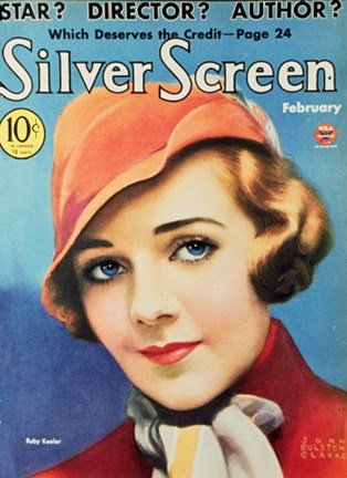 Framed Ruby Keeler Silver Screen Cover Print