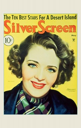 Framed Ruby Keeler Silver Screen Yellow Small Print