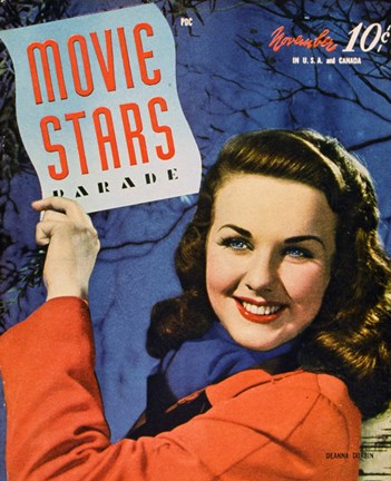 Framed Deanna Durbin - Movie Stars Print