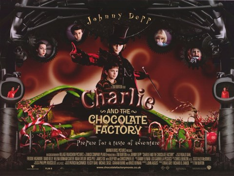 Framed Charlie and the Chocolate Factory Horizontal Print