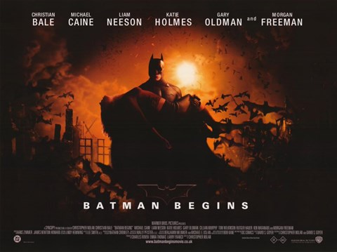 Framed Batman Begins Horizontal Print
