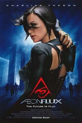 Framed Aeon Flux - the future is flux Print
