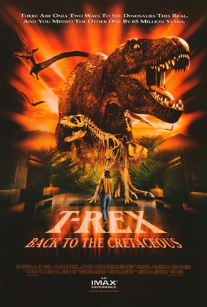 Framed T-Rex: Back to the Cretaceous (IMAX) Print