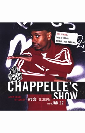 Framed Chappelle's Show Red Print