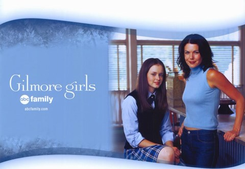 Framed Gilmore Girls - Mom standing with daughter Print