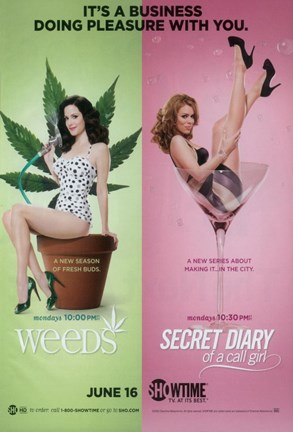 Framed Weeds (TV) & Secret Diary of a Call Girl Print