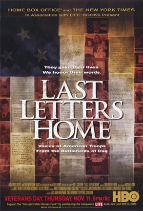 Framed Last Letters Home: Voices of American Troops from the Battlefields of Iraq Print
