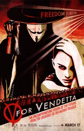 Framed V for Vendetta Pop Print
