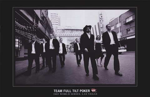 Framed World Series of Poker Team Full Tilt Poker Print