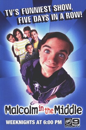 Framed Malcolm in the Middle Print