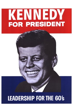Framed Kennedy For President Print