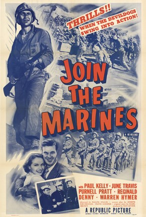 Framed Join the Marines Print