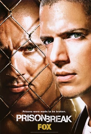 Framed Prison Break (TV) Michael & Lincoln Print