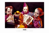 Clown Kids Playing Poker Art