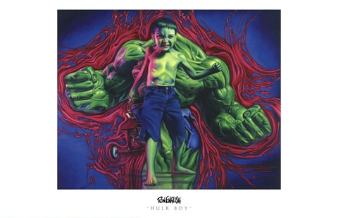 Framed Hulk Boy Print